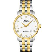 Mido - Baroncelli Auto Gents S/Steel & Gold PVD Watch 38mm