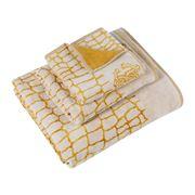 Roberto Cavalli - Cocco Guest Towel Gold/White  40x60cm