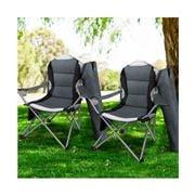 Acampar - Folding Camping Armchair Grey Set of 2pc