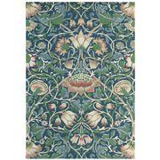 Morris & Co - Lodden Indigo Wool Floral Rug 240x170cm