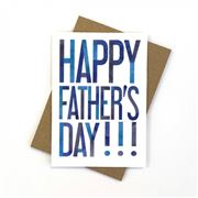 Candle Bark - Happy Father's Day Navy Card