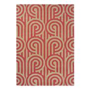 Florence Broadhurst - Turnabouts Claret & Tan Rug 180x120cm