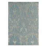 Morris & Co - Autumn Blue Wool Floral Rug 280x200cm