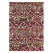 Morris & Co - Granada Red Wool Floral Rug 200x140cm