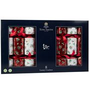 Tom Smith -  Luxury Christmas Crackers Red Foil/White 8pce