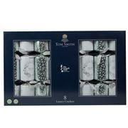 Tom Smith -  Luxury Christmas Crackers Set Silver/White 8pce