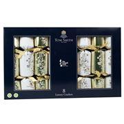 Tom Smith -  Luxury Christmas Crackers Set Gold/White 8pce