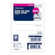 Filofax - Pocket New Classic 2 Week View English 2022