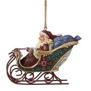 Heartwood Creek - Santa In Sleigh Ornament 7cm