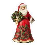 Heartwood Creek - Santa Holding Wreath Figurine 30.5cm