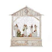 Raz - Nativity Musical Lighted Water Creche 25cm