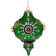 Mark Roberts - Kings Jewel Finial Ornament Dark Green 19cm