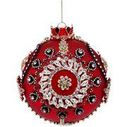 Mark Roberts - Kings Jewel Ball Ornament Red 12cm