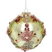 Mark Roberts - Kings Jewel Ball Ornament Lite Green 12.5cm