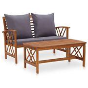 Antibes Outdoor - Garden Lounge w/Cushion 2pce Set