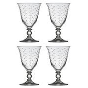 Francalia - Dots Piana Wine Glass 260ml Set of 4pc