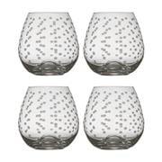 Francalia - Dots Stemless White Wine Glass 440ml Set of 4pc