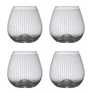 Francalia - Stripe Stemless Wine Glass 440ml Set of 4pc