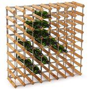 Traditional Wine Rack Co. - Light Oak Wine Rack 72 Bottles