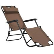 Antibes Outdoor - Folding Sun Loungers W/Footrests 2Pce