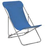 Antibes Outdoor - Folding Beach ChairsOxford Blue 2Pc