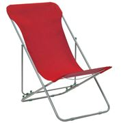 Antibes Outdoor - Folding Beach ChairsOxford Red 2Pce