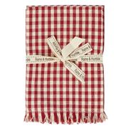 Raine & Humble - Gingham Christmas Napkin Set Red 4pce