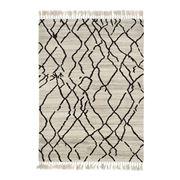 Brink & Campman - Arabiska Beige/Black Wool Rug 200x140cm