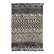 Brink & Campman - Arabiska Black/Beige Wool Rug 200x140cm