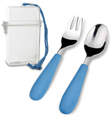 V&B - Kids' Travel Dining Set Blue 2pce