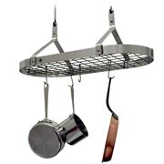 Enclume - Premier Contemporary Steel Oval Pot Rack w/ Grid