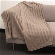 Bemboka - Pure Soft Combed Cotton Throw Flat Rib Mocha