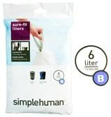 Simplehuman - Sure-Fit Liners Size B 30 x 6L
