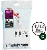 Simplehuman - Sure-Fit Liners Size C 20 x 10-12L