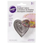 Wilton - Heart Fondant Cutter Set of 3
