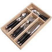 Laguiole - Debutante Black Cutlery Set 24pce