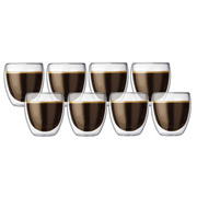 Bodum - Pavina Double Wall Glasses 250ml Set 8pce