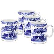 Spode - Blue Italian Mug Set 4pce