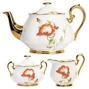 Royal Albert - 100 Years 1970s Poppy Teapot Set 3pce