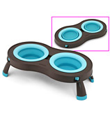 Dexas - Collapsible Pet Feeder Small Blue