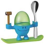 WMF - McEgg Blue Egg Cup & Spoon Set