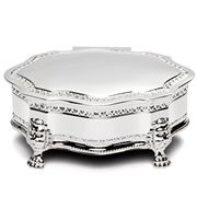 Whitehill - Louis Large Silver Plated Jewellery Box