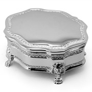 Whitehill - Louis Small Silver Plated Jewellery Box