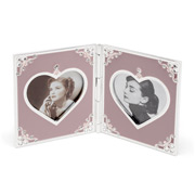 Whitehill - Studio Majestic Double Heart Frame Pink