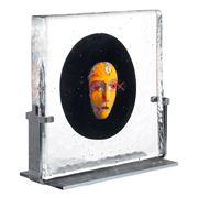 Kosta Boda - Black Elements Moon Sculpture