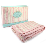 Branberry - Pink & White Stripe Bassinet Blanket