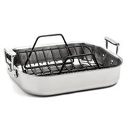 All-Clad - Stainless Steel Roasting Pan with Rack 38x30cm