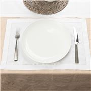 Rans - Hemstitch Placemat White