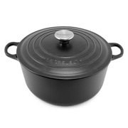 Le Creuset - Satin Black Round French Oven 24cm/4.2L