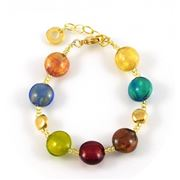 Antica Murrina - Frida Gold Multicolour Murano Bracelet